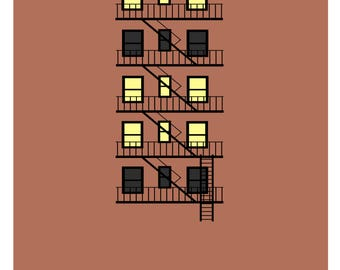 """Affiche expression française - """"Ne pas avoir la lumière à tous les étages"""""""