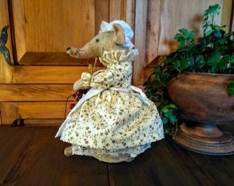 Primitive Mouse - Mouse - Rustic - Primitive - Spring - Decor - Spring Decor - Cloth Doll - Rustic - Farmhouse Decor - Spring Mouse - Faap -