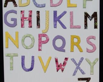Children's magnetic alphabet letters