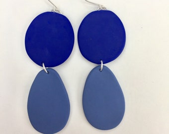 Periwinkle and Blue Statement Earrings