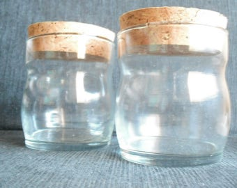 vintage glass jars with cork lids Ravenhead Tubbies