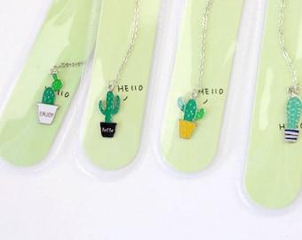 Cactus Pendant Bookmark