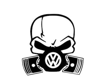 volkswagen Skull (Free same day  Shipping)
