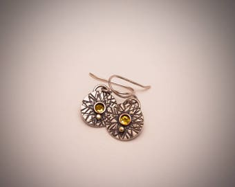 Textured Silver Dangles #2