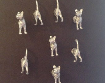 Cat magnets  place card ,photo, memo holders