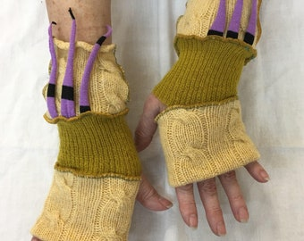 Fawn Pulse Warmers with Thumbholes