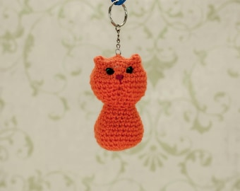 Cat keyring Cute accessories Kids gift Cute cat Crochet keychain Christmas gift Cute cat keychain Cat lover gift Cat decor Gifts under 10