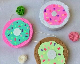 Set of 3 Mini doughnut Pinatas