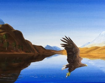 Eddie the Eagle - Giclee Print from Original Oil Painting