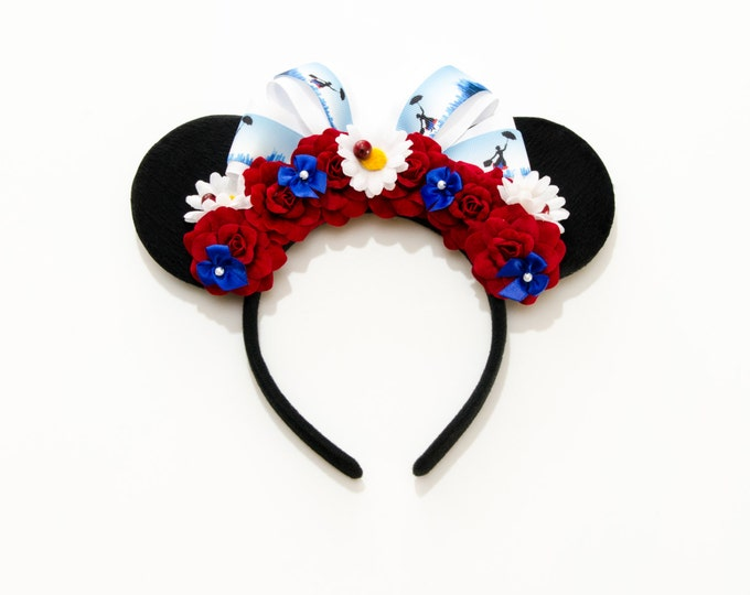 Nanny Poppins Mouse Ears Headband