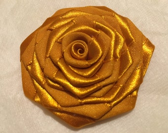 Satin Roses, Fabric Roses, 2 inch Rolled Roses, Satin Flower