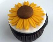 sunflower cupcake topper,...