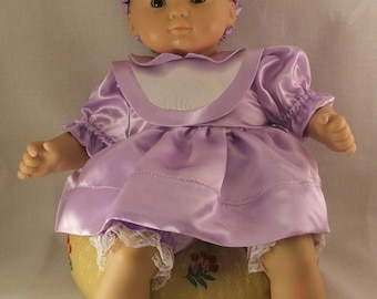 """Purple dressy dress fits Bitty baby and other 16"""" dolls"""