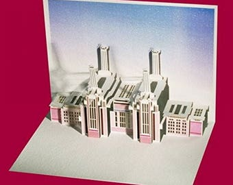 Laser Cut greeting Card  Battersea Power Station - Laser Pop Up Card POP63-