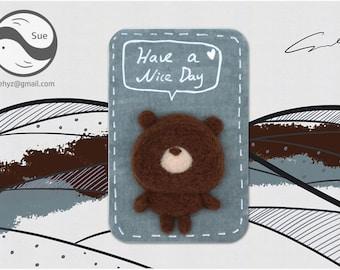 Needle Felting Kits,Bear,Cute Kit,Handmade,Accessories