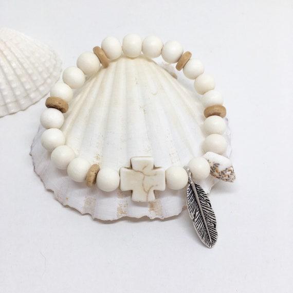 beach boho jewelry, beachcomber bohemian bracelet