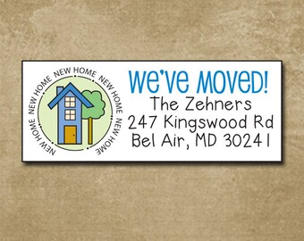 Fabulous New address labels | Etsy XK64
