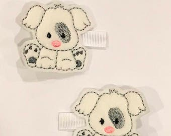 Today I will be cute hair clips. Set of two.