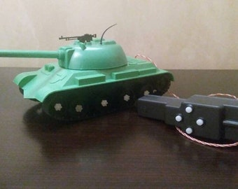 Vintage Soviet Tank toy with remote control
