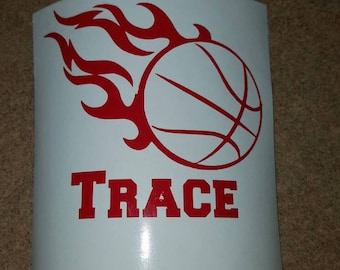 Basketball Vinyl, Basketball Car Decal, Basketball Window Decal, Basketball Yeti Decal, Basketball Sticker, Team Decal, Personalized Decal