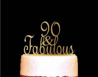 90 Years Loved Cake Topper 90th Birthday Cake Topper 90th