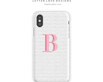 Monogram iPhone Case - iPhone 6s to iPhone 8 Plus Case or Samsung Galaxy S4 to Samsung Galaxy S8 Case, Personalized Phone Case