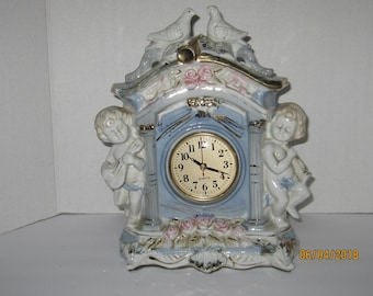 Vintage Old World Ceramic Clock