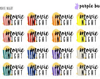 Movie Night // Word Collection // Planner Stickers!