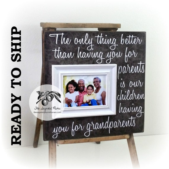 Personalized Grandparents Picture Frame The Only Thing Better