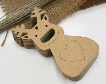 X24 Reindeer Christmas tags Gift tags Christmas Labels