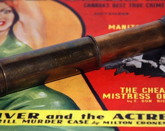 Genuine Vintage Brass Wetzlar Pocket Telescope Spyglass -- Free Shipping!