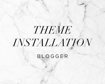 Blogger Template Installation - Add On