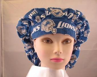 Women's Bouffant Scrub Hat Lions
