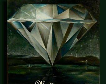 Be precious... Diamond surreal oil painting by Mattiesson