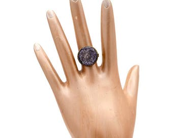 Copper And Purple Adjustable Statement Ring