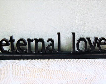 Eternal Love Carved Wood Sign