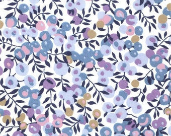 Liberty blue purple Liberty Wiltshire lilac periwinkle color pattern print fabric