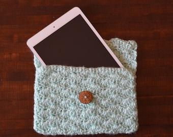 Crochet Ipad Mini Case, Ipad Sleeve/ Ipad Cover, Electronics Case