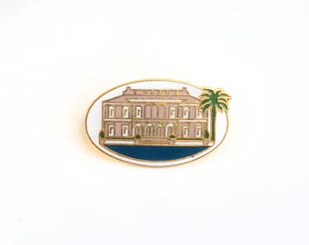 Mansion lapel pin, Architecture enamel pin, lapel pin, enamel lapel pin, cloisonne lapel pin, house enamel pin, building, gift for architect