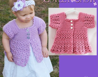 Spring Sweater Crochet Pattern BELLA REBEKAH CARDIGAN digital