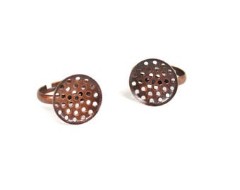 Supports sifter round rings made of coppery red X 2 pieces