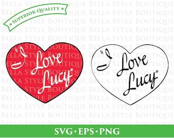 I Love Lucy Lucille Ball Desi Arnaz Ricky Ricardo svg png eps cut file