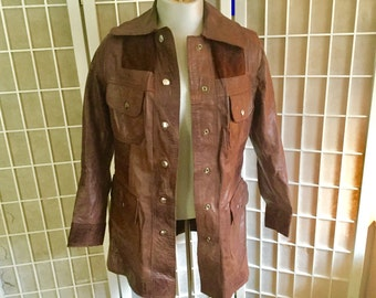Vintage Leather and Suede Jacket 1970s Reversible