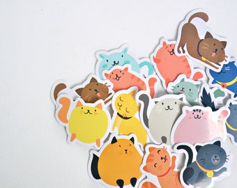 45 pcs Friendly Cats Planner Stickers, Decorative Stickers - STK213