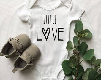 Little Love | Baby Onesie®/ Baby Bodysuit / Baby Announcement / Baby Clothing / Baby Shower Gift / Gender Neutral / BODYSUIT ONLY