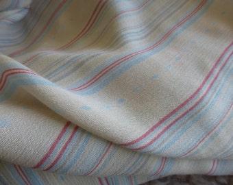 Striped Rayon Fabric by the Yard, Striped Rayon, Fabric by the Yard, Yardage