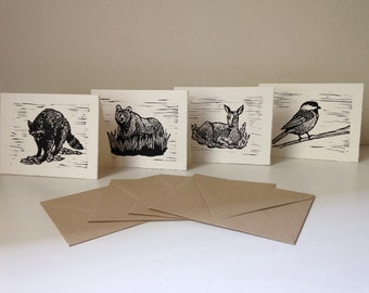 Forest Animals Note Cards