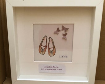 Ballet shoes and butterflies