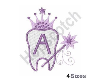Tooth Fairy Font A - machine embroidery design
