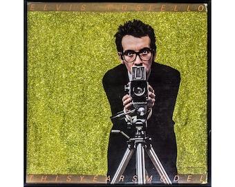 Glittered Elvis Costello My Aim is True Album Art